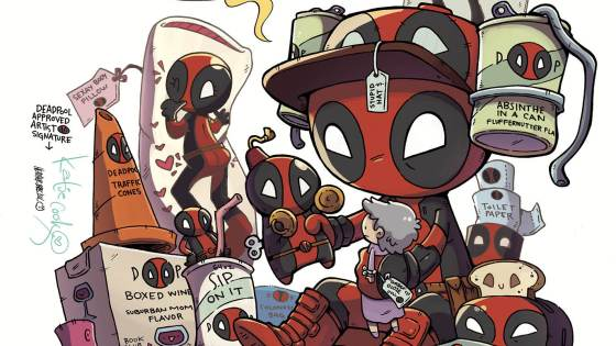 New York, NY—October 7th, 2015 — He's annoying, he's dangerous and he smells terrible. But the public loves him! You heard right – Wade Wilson is the world's most popular superhero! Take that Spidey! Today, Marvel is pleased to present your new look at DEADPOOL #1, the new ongoing series from fan-favorites Gerry Duggan and Mike Hawthorne! The Merc with a Mouth is now the Man With The Fans, and Wade is loving every second of it. Not to mention he's an Avenger now. Yes we're serious. But what happened in the eight months since Secret Wars to make him so popular? We're not telling here! It's Wade's world and we're just living in it. Bo be there for the start of his most successful adventure yet when DEADPOOL #1 crashes comic shops this November!