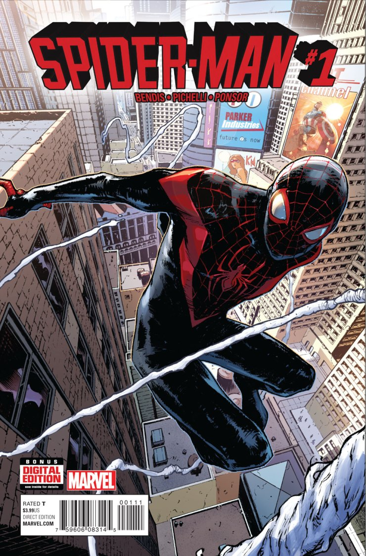 This Wednesday, Miles Morales comes to the Marvel Universe, and he's here to stay! But before SPIDER-MAN #1 comes to comic shops everywhere and digital devices, Marvel is pleased to present your new look inside the highly anticipated first issue! Strap in as Miles Morales co-creators Brian Michael Bendis and Sara Pichelli present the next chapter in the young hero's life!
