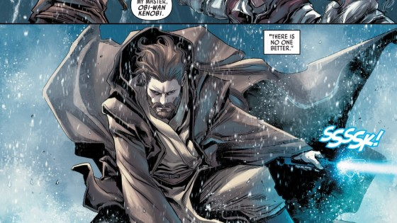 On the surface, last issue of Obi-Wan & Anakin centered around the titular Jedi traveling to Carnelion IV to respond to a distress signal sent to the Jedi Order. But the far more interesting aspect of this miniseries is being able to watch the seeds of doubt planted in Anakin's mind early on, which would ultimately result in his turning to the Dark Side and becoming Darth Vader (spoiler alert!). One of the prequel's gravest mistakes was not devoting enough time to Anakin's slow descent into madness, so a miniseries taking place between The Phantom Menace and Attack of the Clones is a must-read for any Star Wars fan. Is it good?