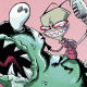Continuing the trend from last issue, Invader Zim #7 features a new guest artist and writer.  This time around we've got Kyle Starks on the script and Dave Crosland on pencils (with layouts by regular artist Aaron Alexovich).  While the issue isn't quite as out there as KC Green's guest stint last month, it's still an amusing little Zim tale.