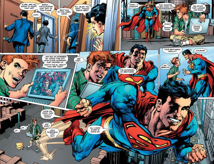 Loud, cheesy and fun are just a few words I'd use to describe the first issue of Superman:  The Coming of the Supermen.