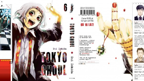 The latest volume of Tokyo Ghoul came out last week in America and it has one freaky cover. The character is an investigator who's into body modification, which makes him quite weird and eccentric-just how I like my detectives! He's not the main character though, which makes you wonder what's going on with the ghouls?