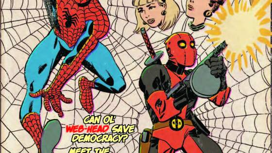 Another guest issue while Joe Kelly and Ed McGuinness get ahead on their epic story! In the Deadpool tradition, we present a 'lost' issue of the Amazing Spider-Man! Flashback to the swinging '60s for one of Deadpool & Spidey's earliest meetings! Don't be a flake - beat feet to your shop and order now! This issue is a real solid gas! Rated T+