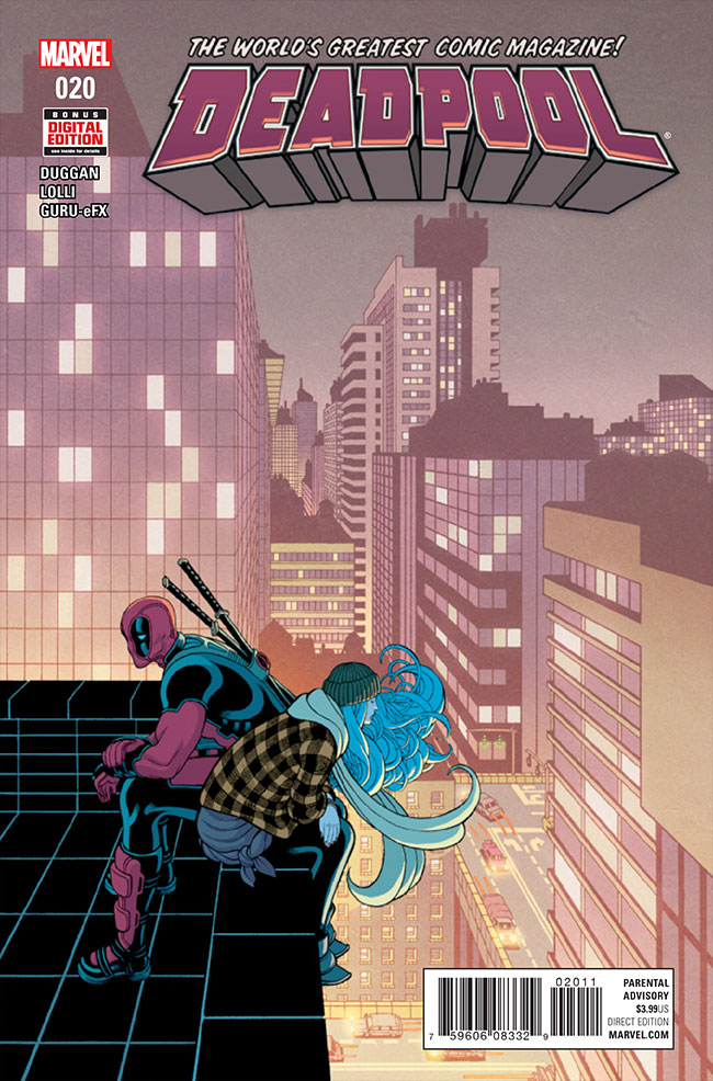 Deadpool is a more multifaceted character than the internet memes and chimichanga jokes would have you believe.  In Deadpool #20, we get a glimpse at his sentimental side; can the the Merc with a Mouth use his gift for gab to talk a young person out of taking their own life?  Is it good?