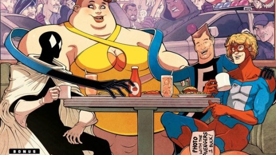 I might be nuts for nostalgia, or just plain nuts, but when I saw there was a Great Lakes Avengers books on the horizon I got a little too excited. Maybe it was the memory of the Marvel cards from the series, or maybe it was just the idea of split up teams, but dammit I had to read the thing.