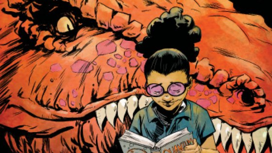 "Her brain is the only super power she'll ever need! But having a 30-foot tall dinosaur by your side never hurts. Today, Marvel is pleased to present your first look at MOON GIRL AND DEVIL DINOSAUR #13 – the first chapter of ""The Smartest There Is""! Fan-fave creators Amy Reeder, Brandon Montclare and Natacha Bustos bring Lunella Lafayette and her prehistoric pal into Marvel NOW! with a brand-new story arc and a startling revelation. Moon Girl is the smartest person in the Marvel Universe?! That's right – Amadeus Cho, Victor Von Doom, T'Challa and Reed Richards all have one thing in common: they aren't smarter than a 4th grader! But now it's time to put that intellect to the test against a horde of subterranean monsters! Thankfully the Hulk and her buddy Devil Dinosaur are backing her up. Plus – what is the secret of…MOON WOMAN?! Find out when the exciting new story arc ""The Smartest There Is"" kicks off in MOON GIRL AND DEVIL DINOSAUR #13 – on sale November 23rd!"