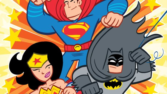 Aw yeah, the World's Greatest Heroes are back in a new, all-ages miniseries—except for Batman! Superman helps out by cleaning up in Gotham City, where he discovers a clue that sends Wonder Woman into space to find the Caped Crusader. Her journey brings her a step closer to Batman, but can she uncover the truth behind his disappearance? From the award-winning creative team that brought you TINY TITANS and SUPERMAN FAMILY ADVENTURES!