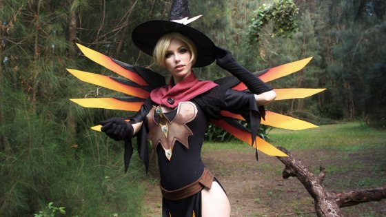 Blizzard got into the Halloween spirit by releasing this witchy skin variation for Overwatch support, Mercy: