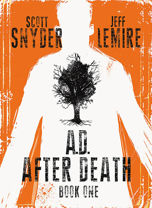 Image Comics has two of the biggest creators in comics coming together. Both Scott Snyder and Jeff Lemire are known for great storytelling that hits at the core of a character or our very humanity. Mix in a science fiction premise, creative use of prose, and Jeff Lemire's artful hand, and you have A.D.: After Death...but is it good?
