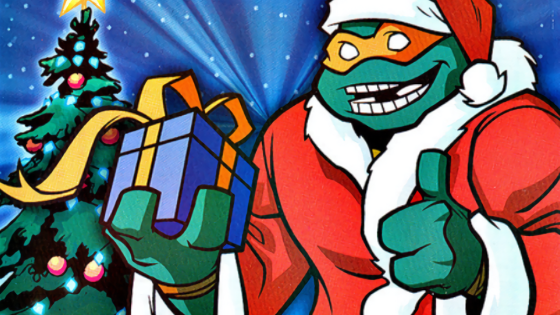 """Red Alert: Christmas is coming, either you or someone you know is a Teenage Mutant Ninja Turtles fan, and you need to find them a gift.  NOW.  Money is no object; all that matters is that they open a box this December that contains something green and clad in a """"bandana"""" that looks more like a rainbow-colored robber mask."""