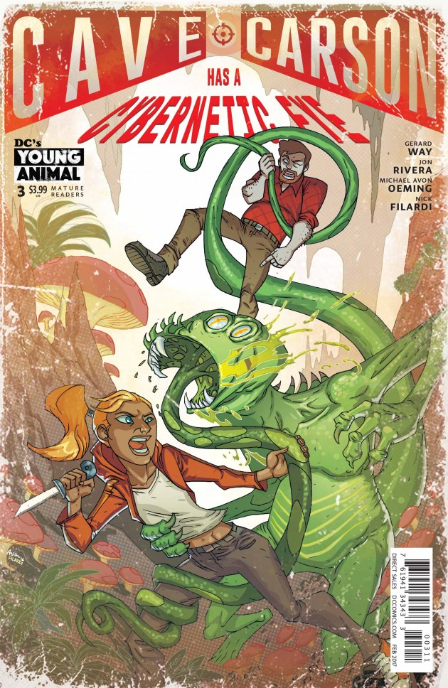 Cave Carson Has a Cybernetic Eye #3 Review