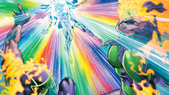 Sam Humphries continues to key into the emotional spectrum that the Lantern powers come from as the Phantom Ring attempts to destroy the Green Lanterns! This issue wraps up their fight with the Phantom Lantern, but is it good?