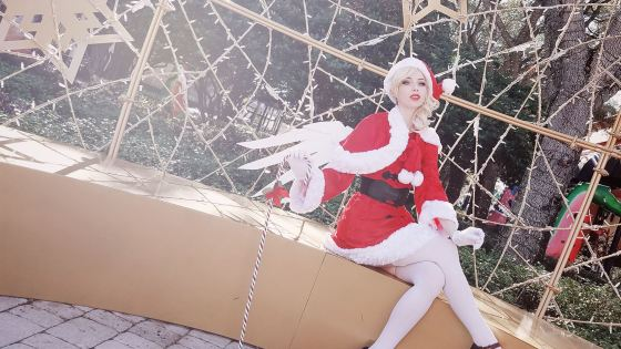 Overwatch: Christmas Mercy Cosplay by Megan Coffey