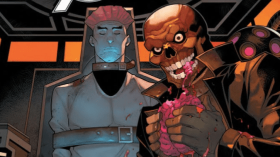 With the unity squad at the mercy of the Red Skull, Deadpool reaches into his little black book for some help. Skull, meanwhile, is utilizing his newly acquired mental powers to break the Avengers! How will our heroes get out of this one?