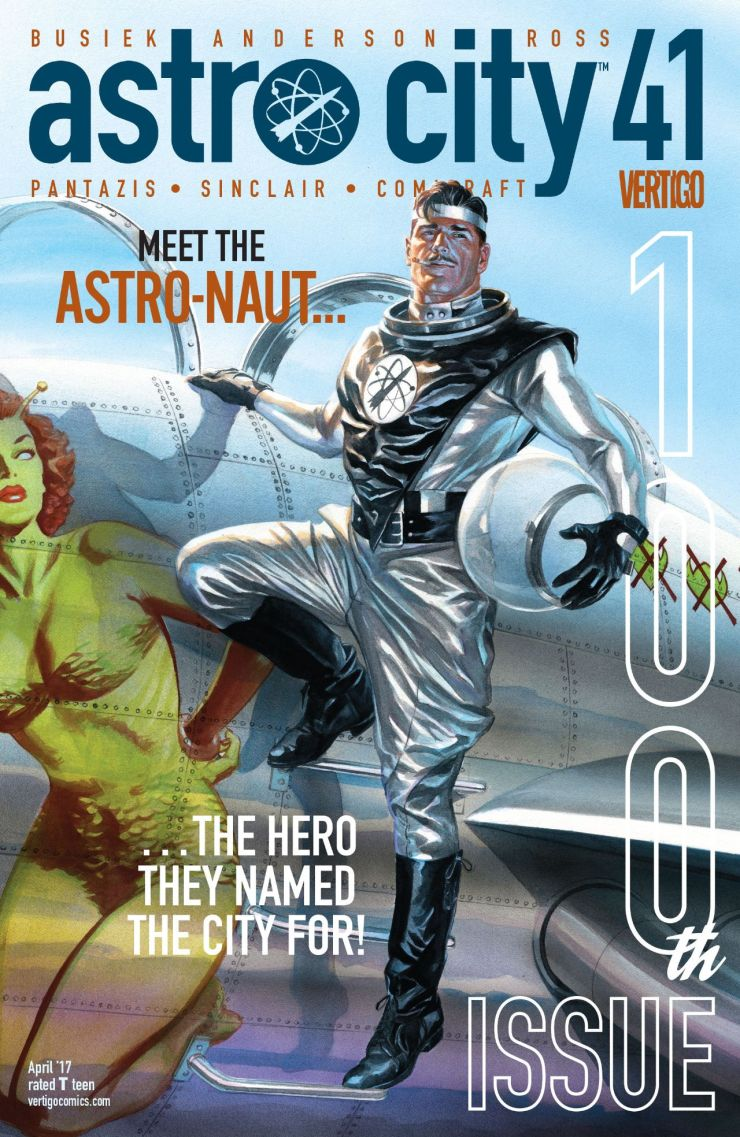 It is the 100th issue extravaganza issue of Astro City--just look in the back of a book for how we got here even though the cover says 41--and we finally learn why the city is named Astro City. Is it good?