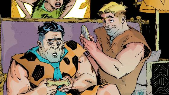 Wilma visits her mother and Fred and Barney must deal with the absence of their wives in The Flintstones #8. Meanwhile, Mayor Clod devises a plan to increase support for the destruction of the Lizard People. Is it good?