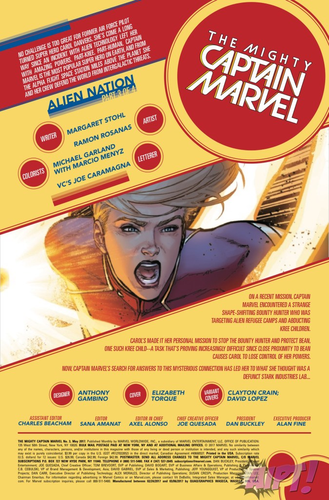 [EXCLUSIVE] Marvel Preview: The Mighty Captain Marvel #3
