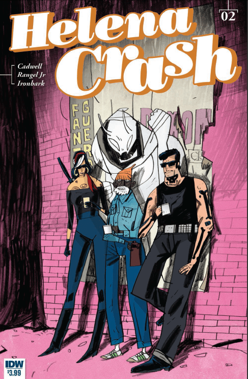 In a future where robots, aliens, and even werewolves walk the streets, Helena Crash is there to kick butt and find things that are difficult to acquire. The first issue debuted a clever protagonist in a world that is visually arresting. We dive into issue #2 to see how much travel Helena can get into, and also to determine: is it good?
