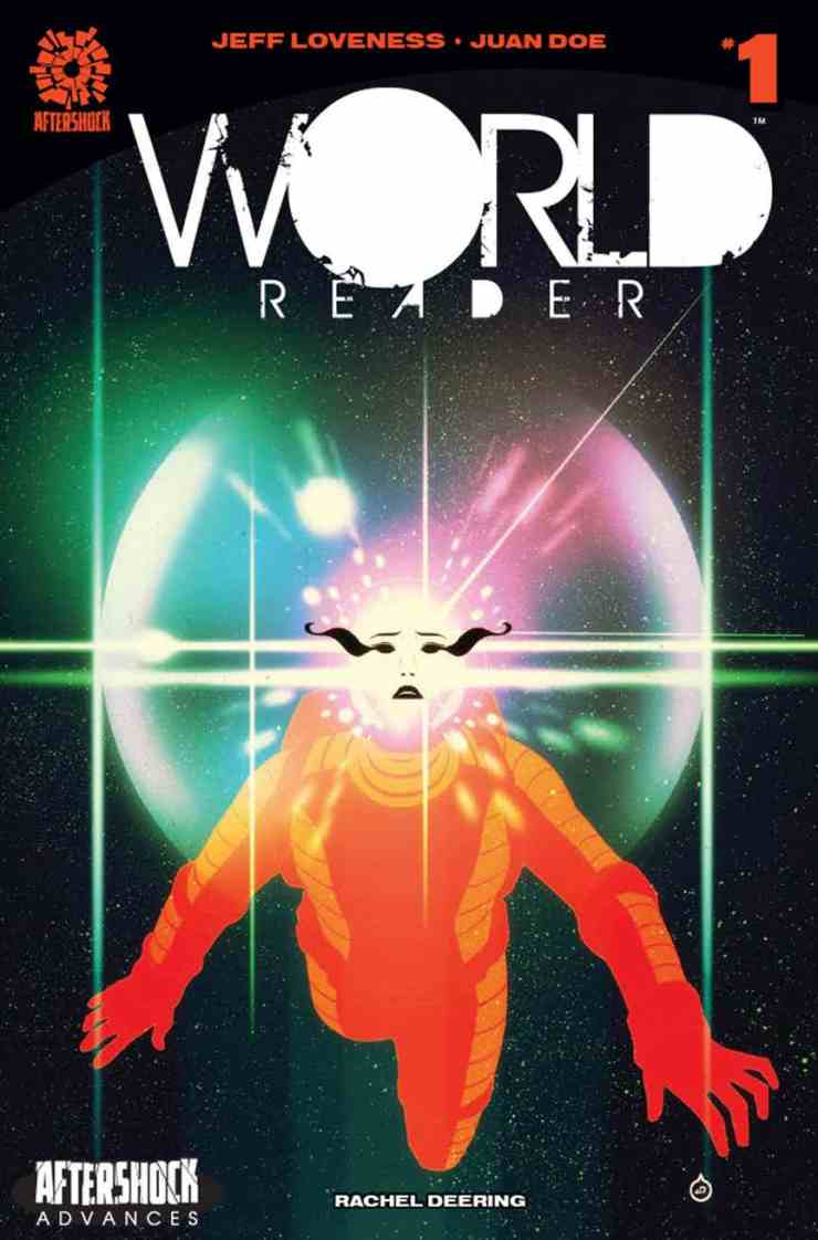 World Reader #1 is a beautiful new sci-fi book from Jeff Loveness and Juan Doe. This is a sparse first entry, but the minimalistic approach creates a fitting, intriguing atmosphere for what's to come.