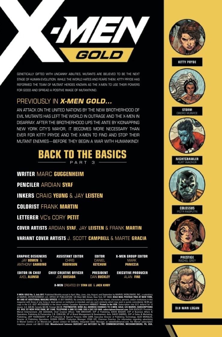 Marvel Preview: X-Men: Gold #3