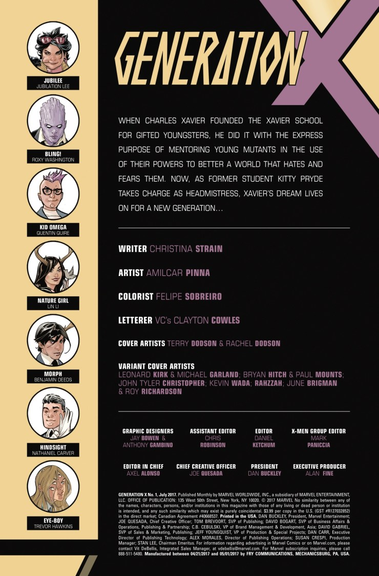 Marvel Preview: Generation X #1
