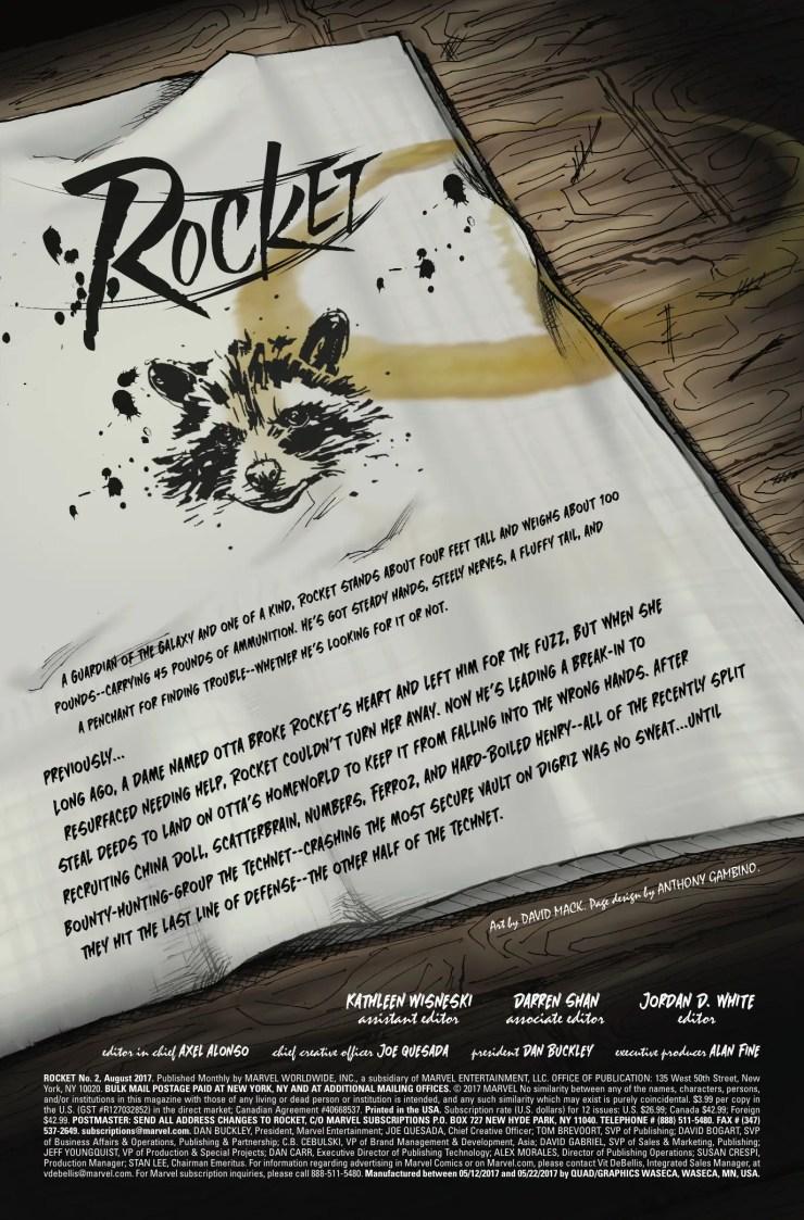 Marvel Preview: Rocket #2