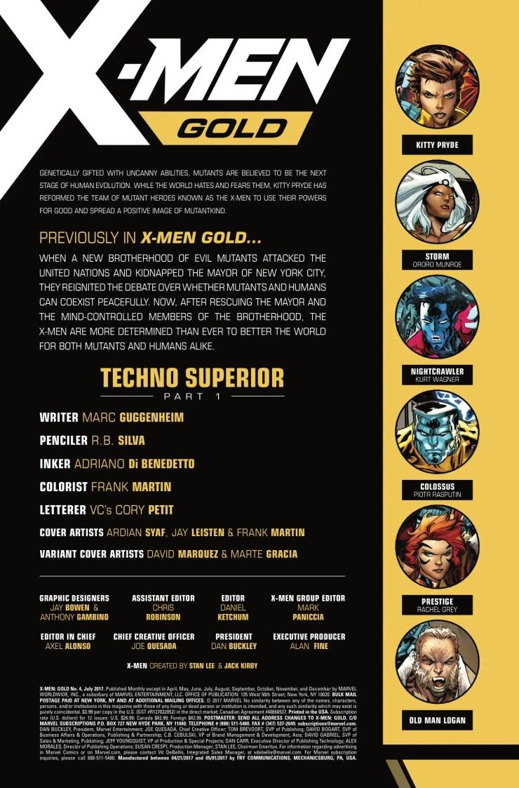 Marvel Preview: X-Men: Gold #4