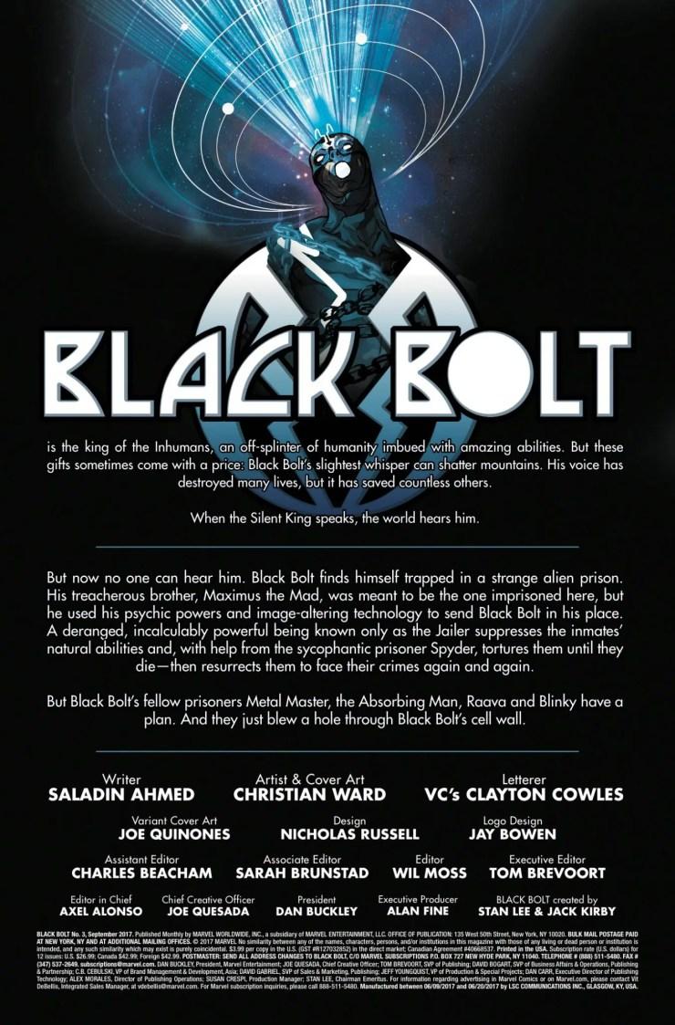 Marvel Preview: Black Bolt #3