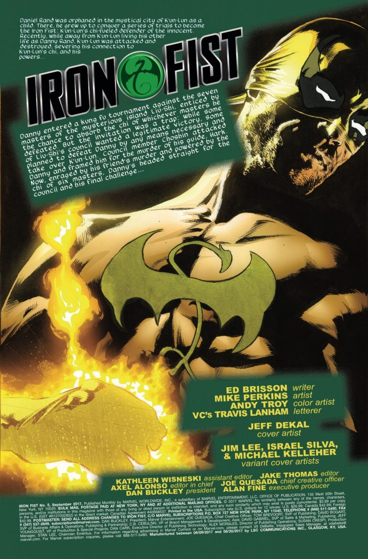 Marvel Preview: Iron Fist #8