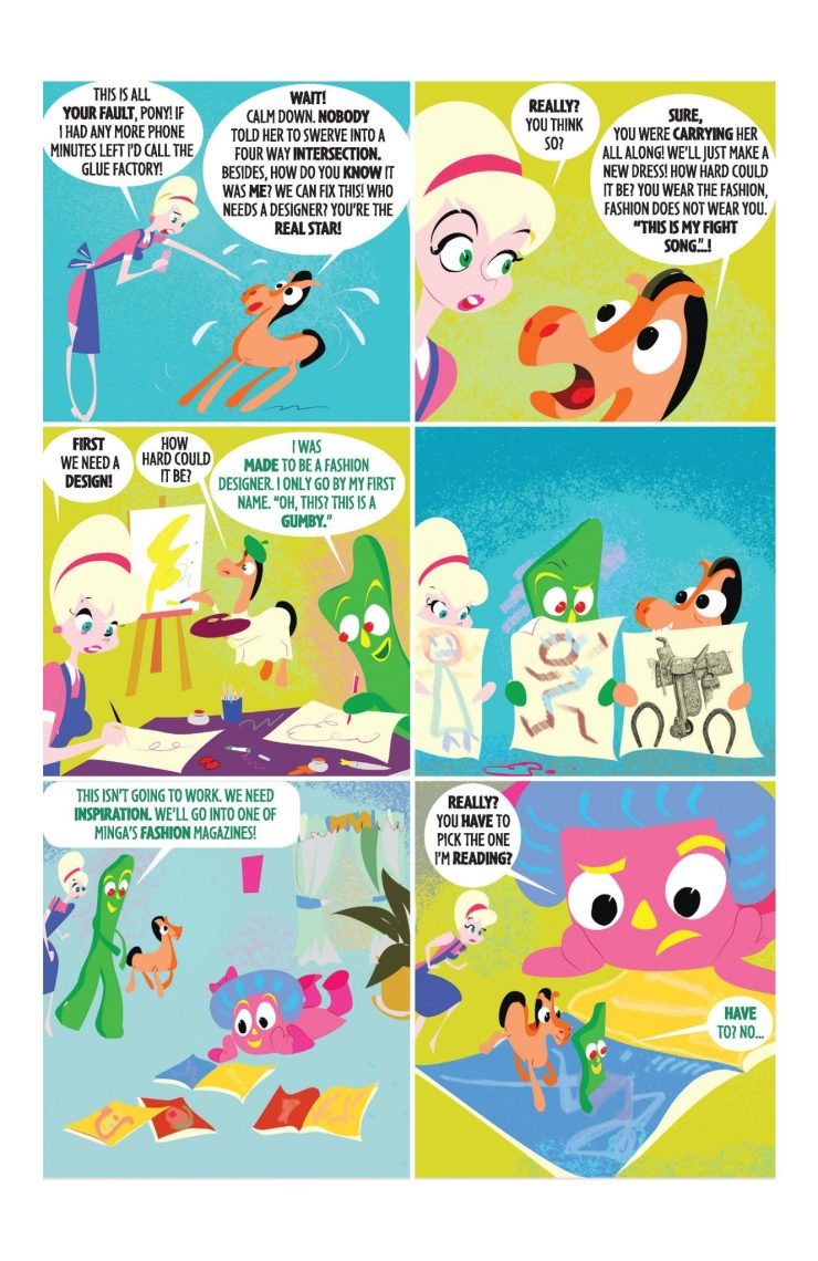 Papercutz Preview: Gumby #1