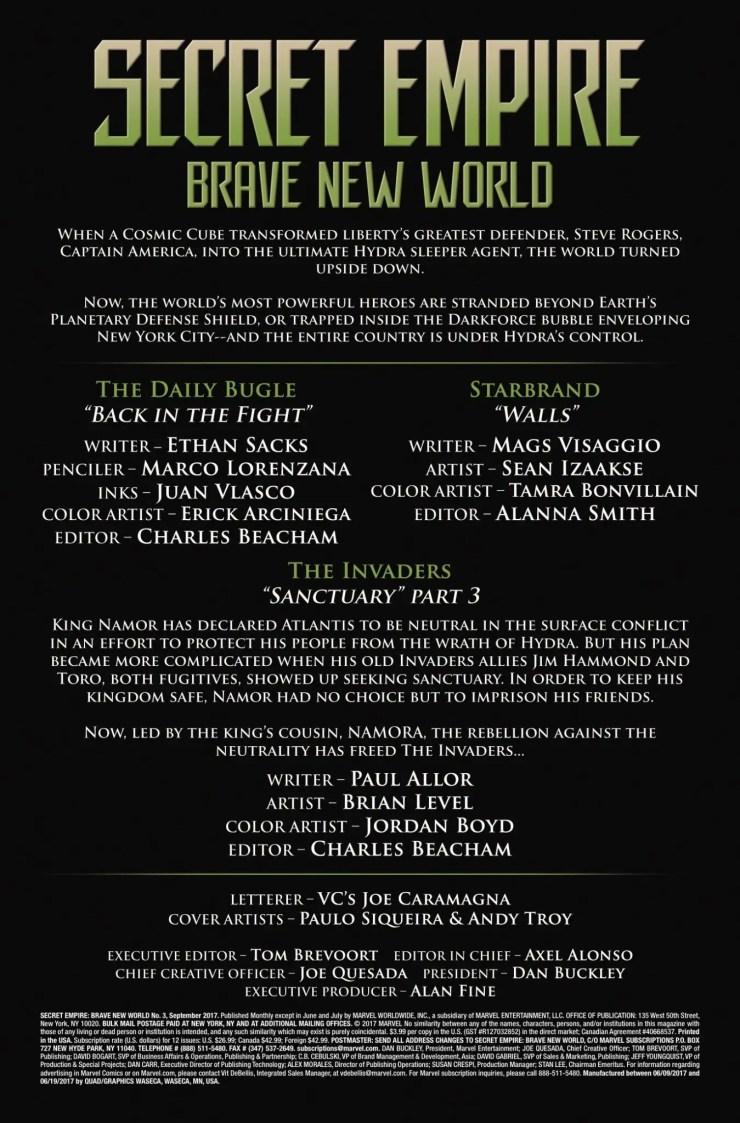 Marvel Preview: Secret Empire: Brave New World #3