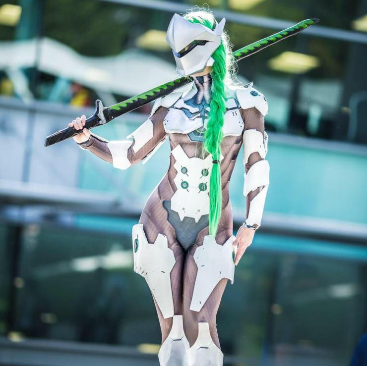 Genji recently entered the Nexus as one of the newest members of Heroes of the Storm, so there are now two places to get extremely frustrated by him. Far less frustrating is checking out Blondiee's impressive cosplay: