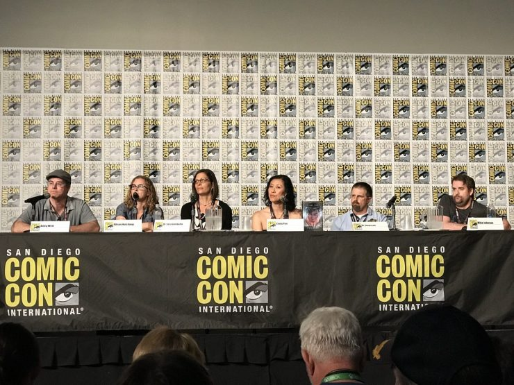 SDCC 2017's 'Science Fiction, Science Future' panel with Andy Weir, Mike Johnson, Cindy Pon, Dr. Stuart Lee, Allison Hutchings, and Dr. Sara Gombatto