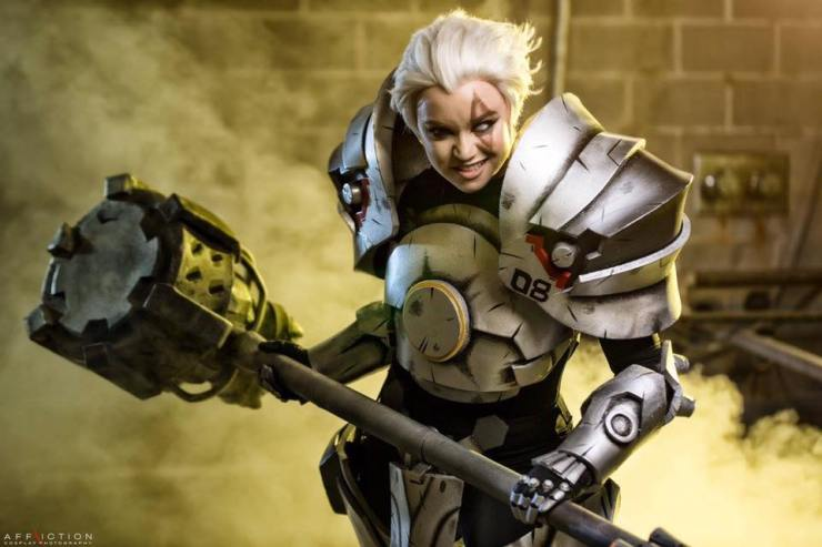 Overwatch: Female Reinhardt Cosplay by Crash Candy