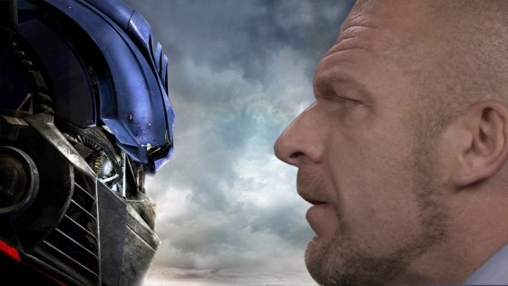 Pro wrestlers were meant to play gigantic robots.
