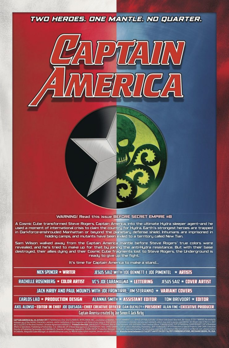 Marvel Preview: Captain America #25