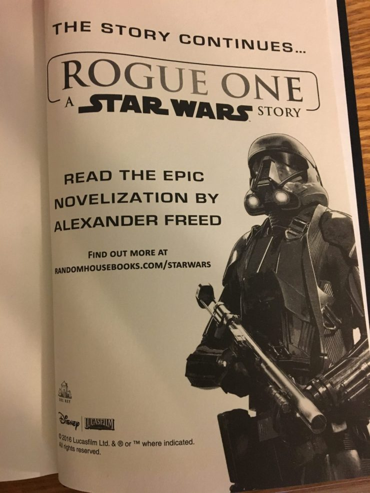 'Star Wars: Catalyst: A Rogue One Novel' is insightful, but feels like only half the story