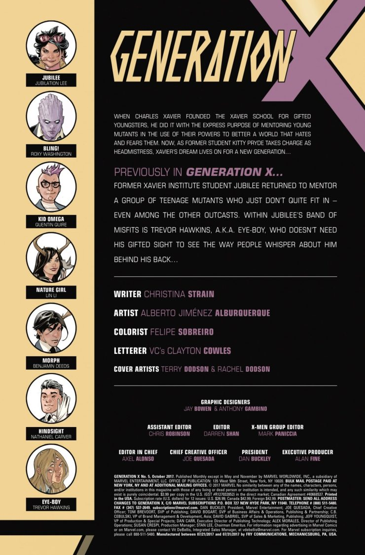 Marvel Preview: Generation X #5
