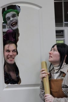 I don't remember the Joker being in this scene, but it's been a while since I've seen the Shining. (My favorite cosplay at the event)