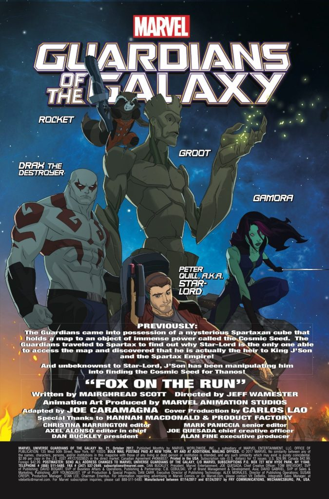 Marvel Preview:   Marvel Universe Guardians of the Galaxy #21