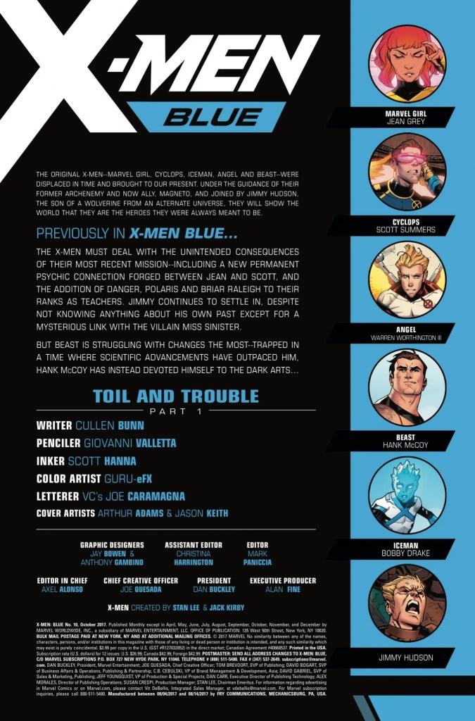 Marvel Preview: X-Men: Blue #10