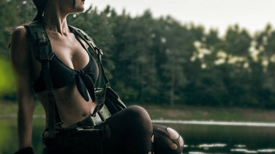 Meryl Sama as Quiet, the female assassin from Metal Gear Solid V.