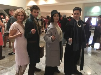 Queenie, Newt, Tina, and Grindelwald from Fantastic Beasts and Where to Find Them