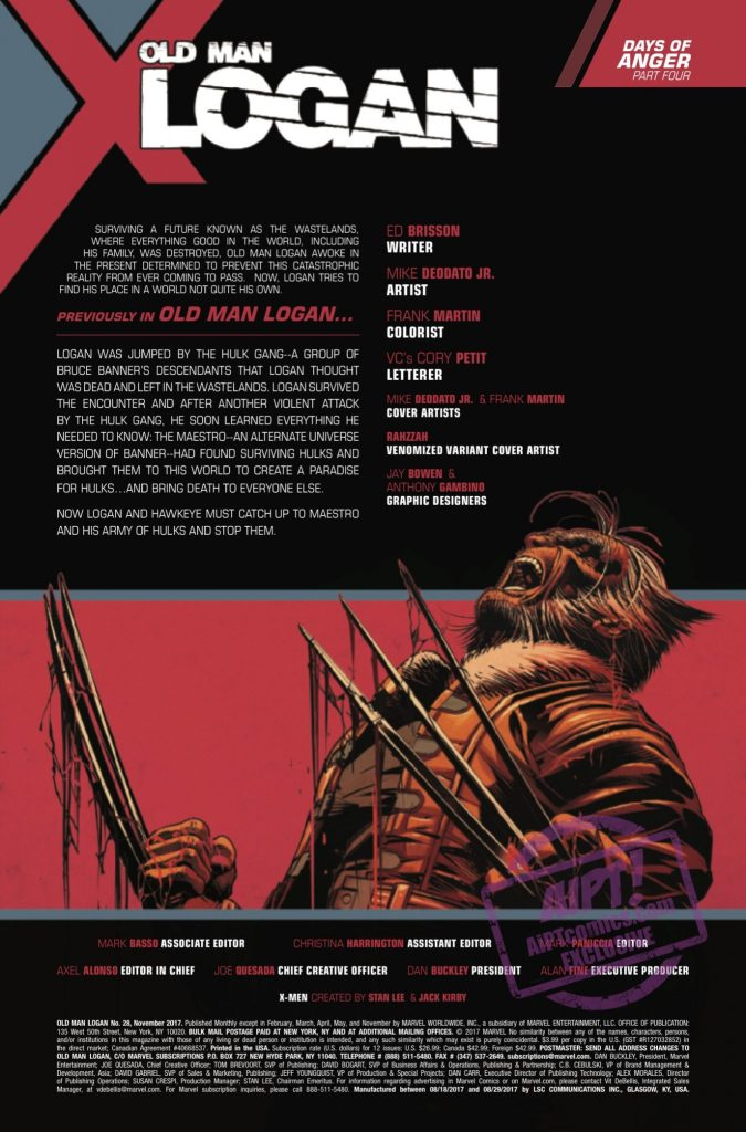 [EXCLUSIVE] Marvel Preview: Old Man Logan #28