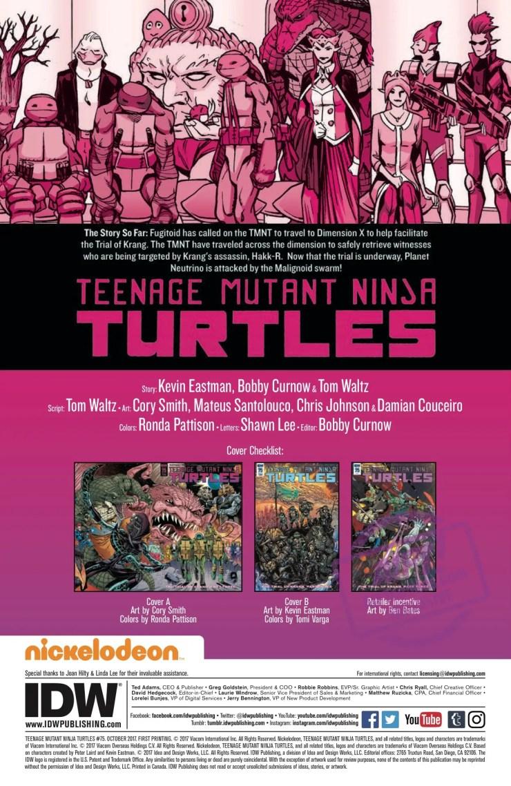 [EXCLUSIVE] IDW Preview: Teenage Mutant Ninja Turtles #75