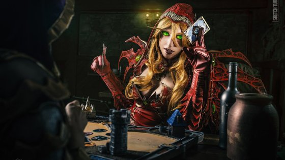 Valeera's rogue deck is one of the strongest in the current Hearthstone meta -- perfect timing for this Hearthstone-related cosplay set from Aliza.