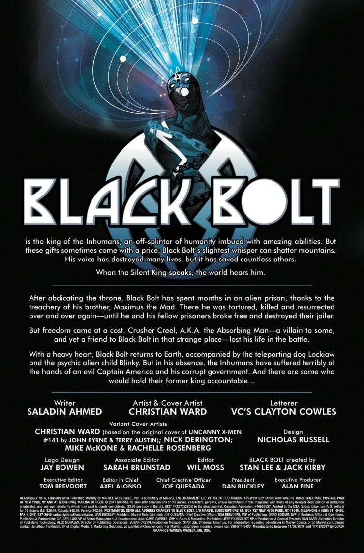 Marvel Preview: Black Bolt #8