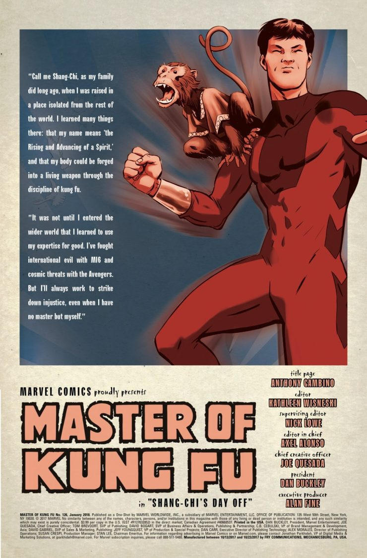 Marvel Preview: Master of Kung Fu #126