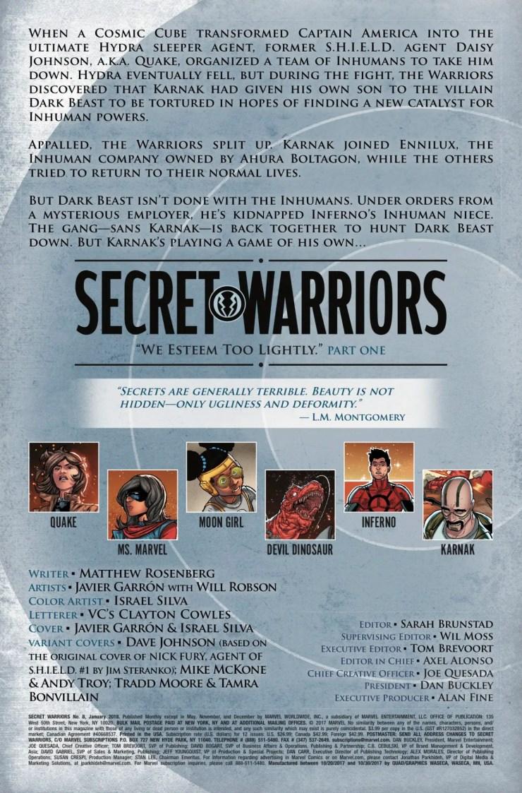 Marvel Preview: Secret Warriors #8