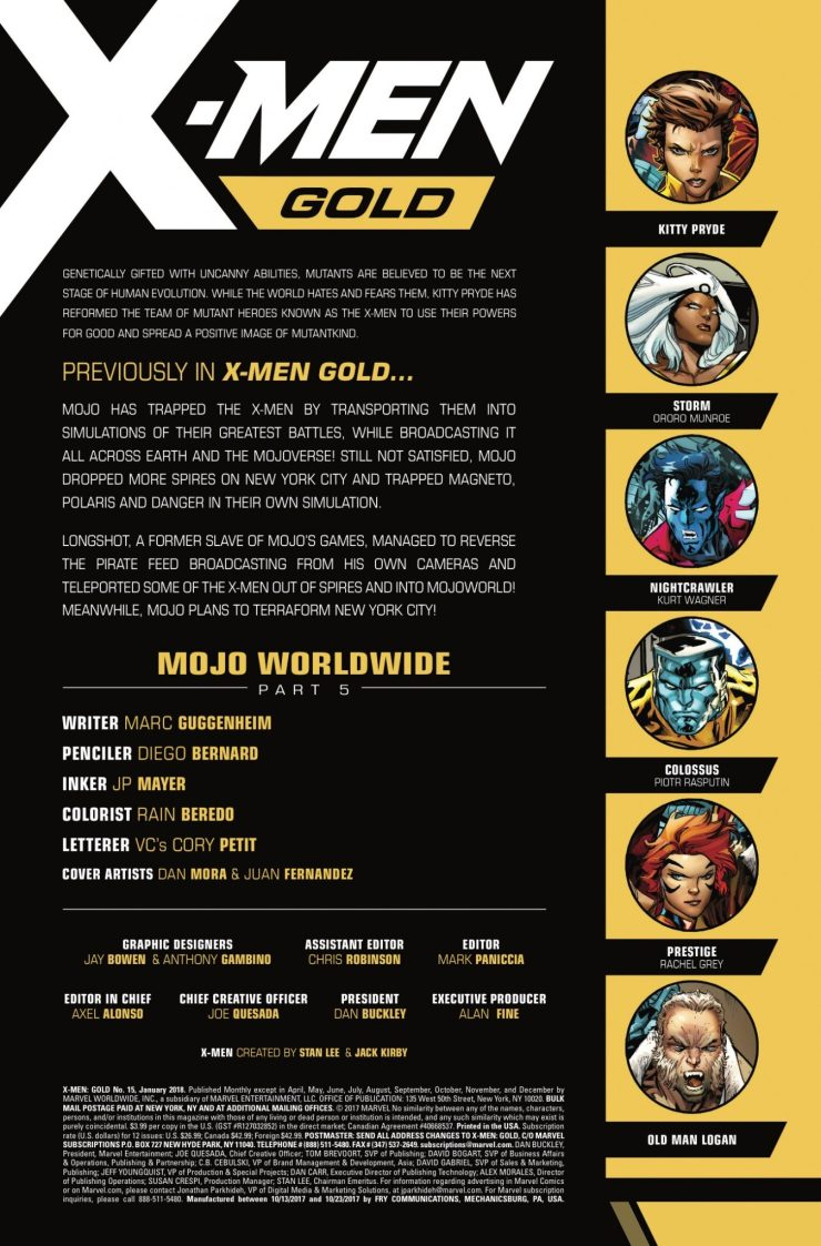 Marvel Preview: X-Men: Gold #15